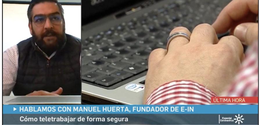 Entrevista a Manuel Huerta en Canal Sur Noticias TV