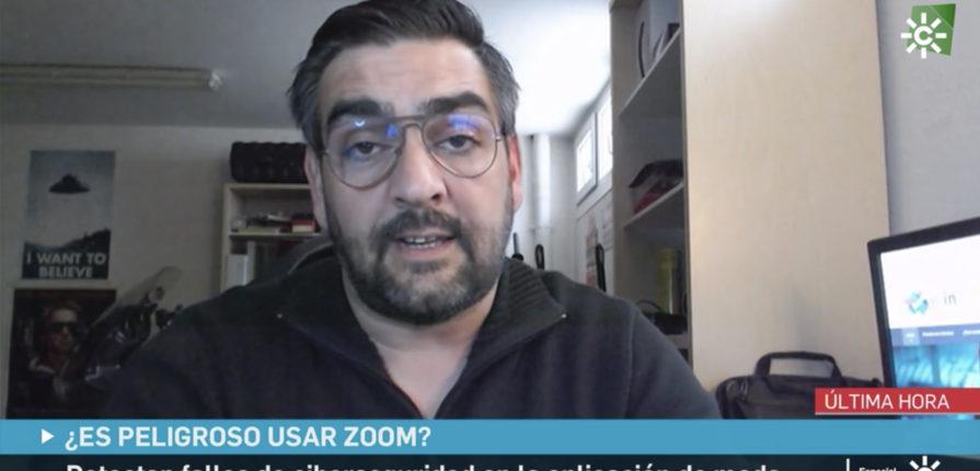 En Canal Sur Noticias, Manuel Huerta explica las vulnerabilidades de la famosa app ZOOM