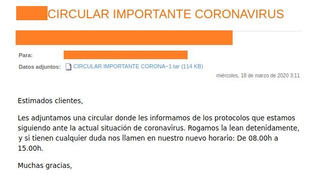 Detectada oleada de falsos correos de sextorsión o infección de COVID19