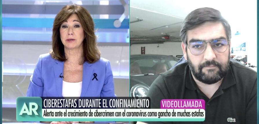 Ana Rosa Quintana entrevista a Manuel Huerta para hablar sobre ciberataques durante el Covid-19