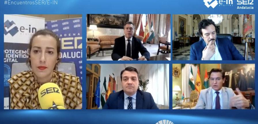 Los alcaldes de Sevilla, Córdoba, Cádiz y Granada participaron en el primer Encuentro online de la Cadena SER Andalucía organizado por E-IN Digital