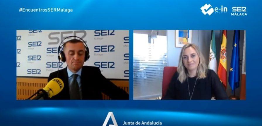 """La consejera de Fomento de la Junta de Andalucía, Marifrán Carazo en los """"Encuentros SER Malaga"""" organizados por E-IN Digital"""